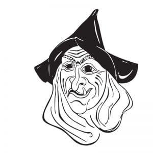 Vektorgrafik einer Hexe