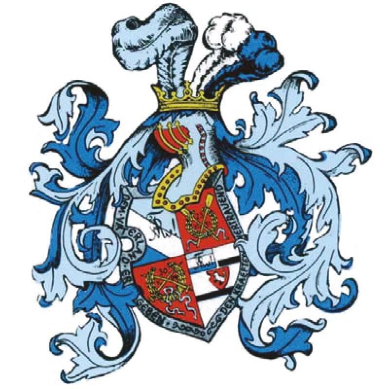 Vorlage von einem komplexen Wappen für Vektorisierung
