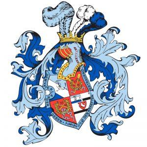 Vektorgrafik von einem komplexen Wappen