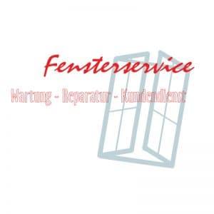"""Vektorgrafik eines Firmenlogos - """"Fensterservice - Wartung - Reparatur - Kundendienst"""""""
