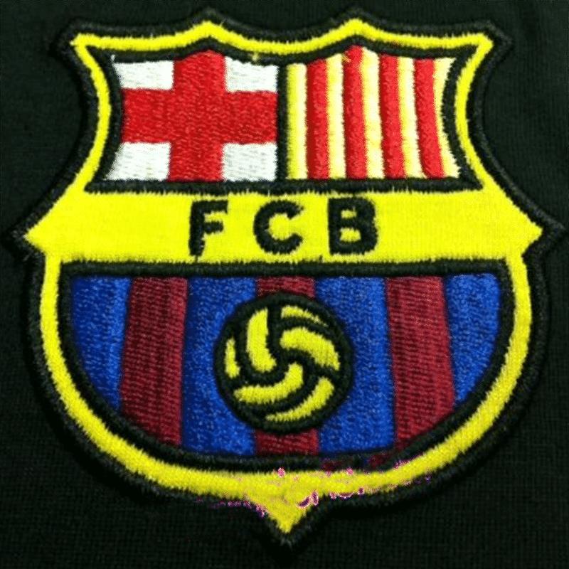 Wappen des FC Barcelona als Stickerei