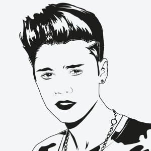 Vektorgrafik von Justin Bieber