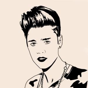 Vorschau Vektorgrafik von Justin Bieber
