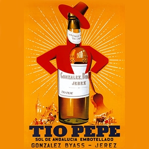 Vorschau Vektorgrafik von Plakat Tio Pepe