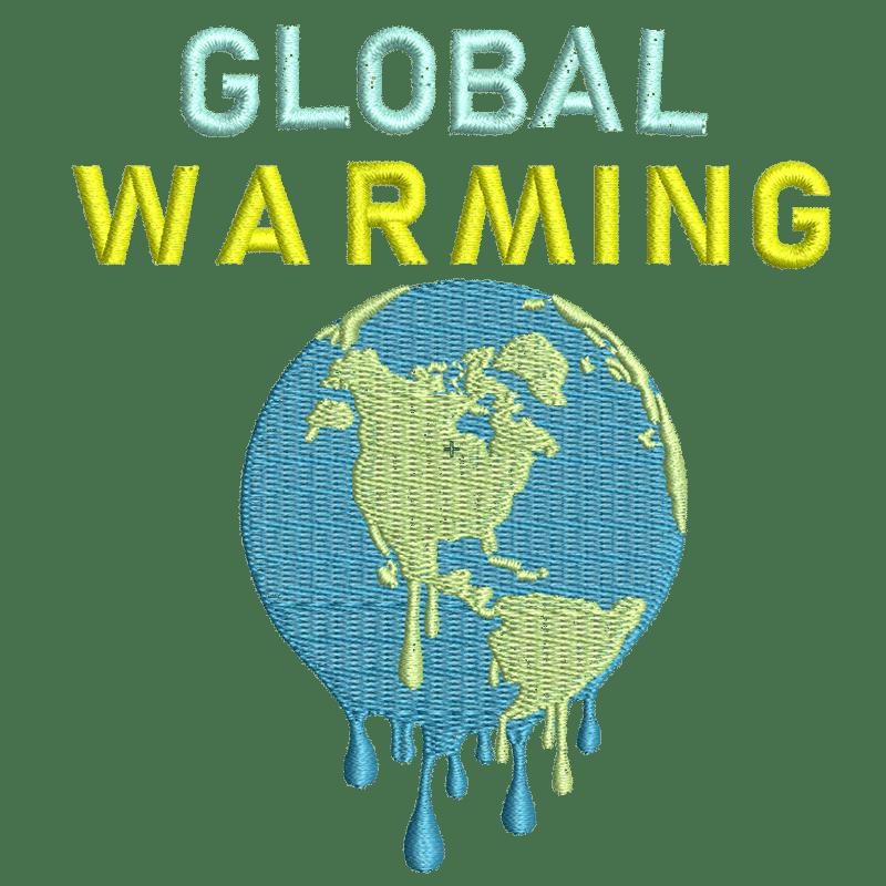 Stickdatei von Global Warming