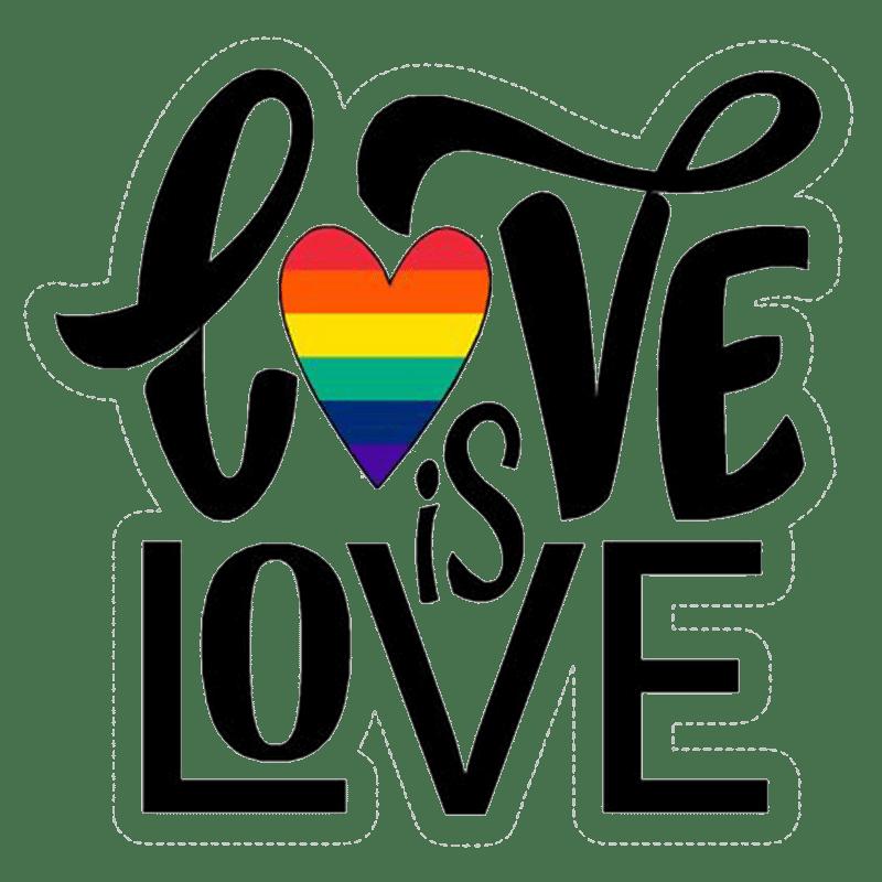 Vorlage für Vektorgrafik von Love is Love