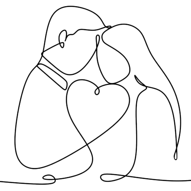 Vorlage für Stickdatei von One-Line Love