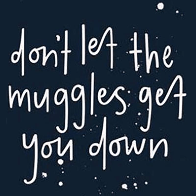 Vorlage für Stickdatei von Don't let Muggles