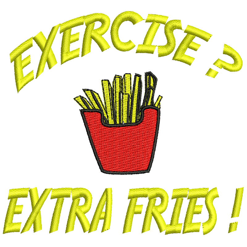Stickdatei von Exercise or Fries