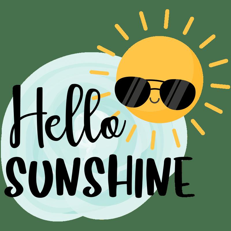 Vorlage für Stickdatei von Hello Sunshine