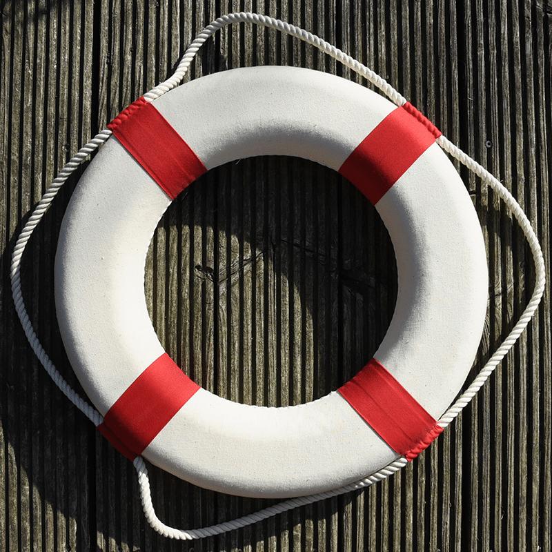 Vorlage für Stickdatei von Rettungsring