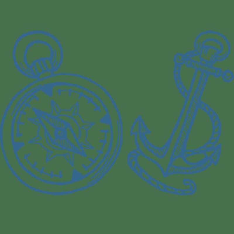 Vorlage für Stickdatei von Compass+Anchor
