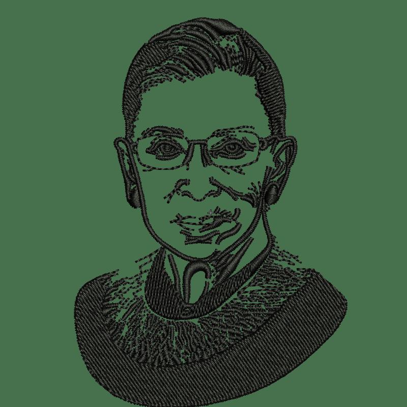 Stickdatei von Ruth Bader Ginsburg