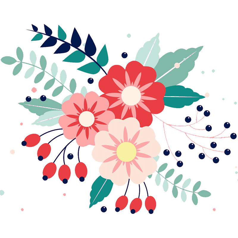 Vorlage für Stickdatei von Summer Flowers