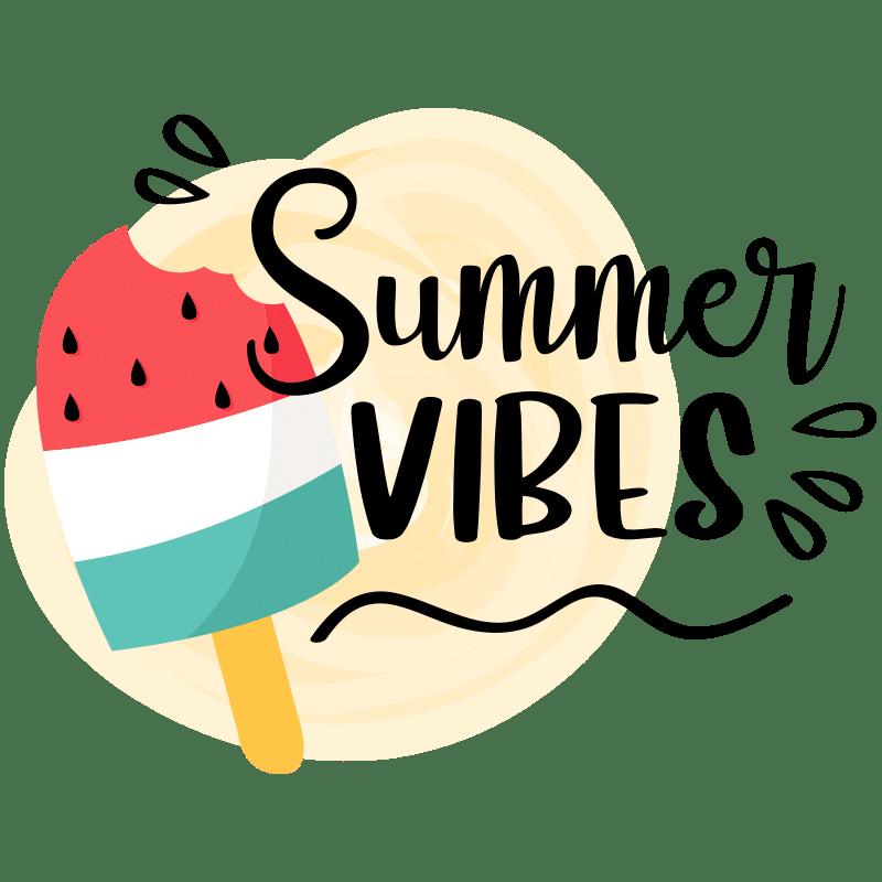Vorlage für Stickdatei von Summer Vibes
