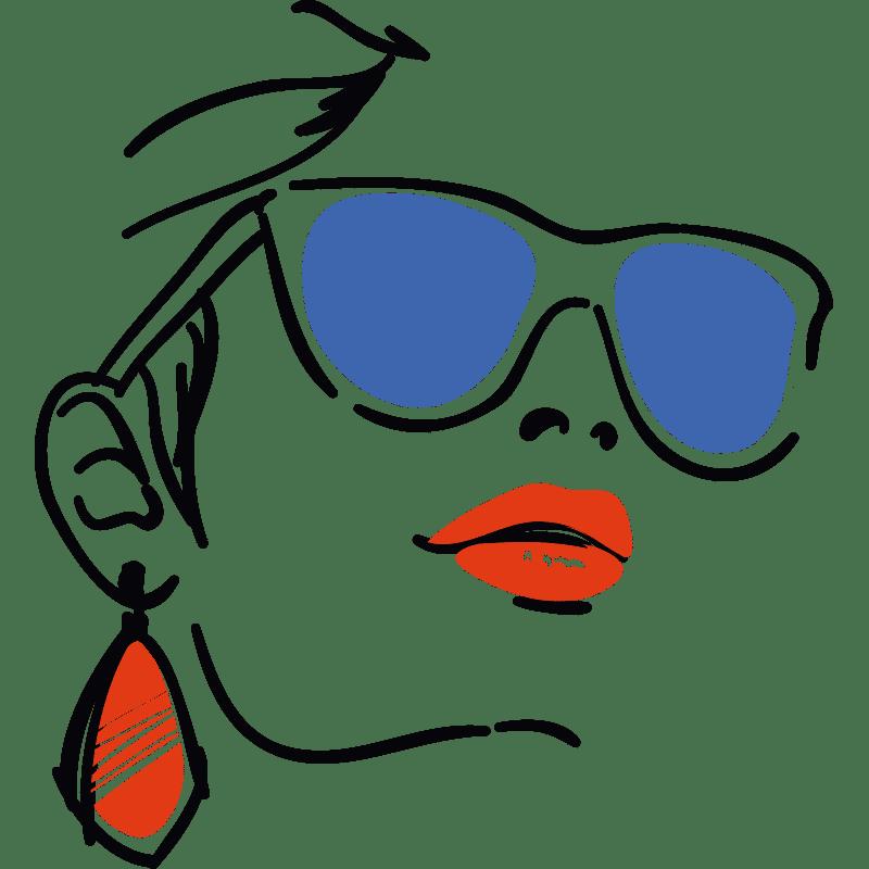 Vorlage für Stickdatei von Sunglasses