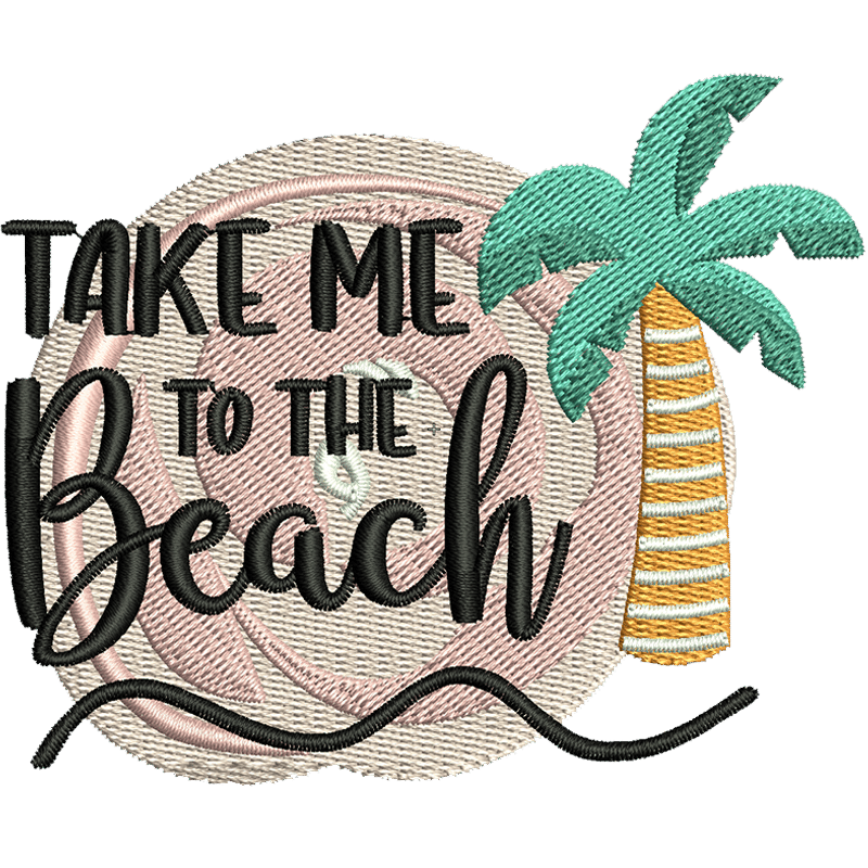 Stickdatei Take me to the beach