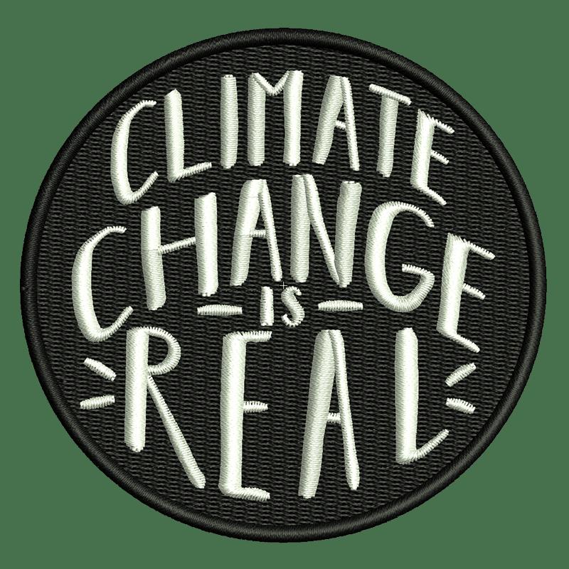 Stickdatei von Climate Change is real