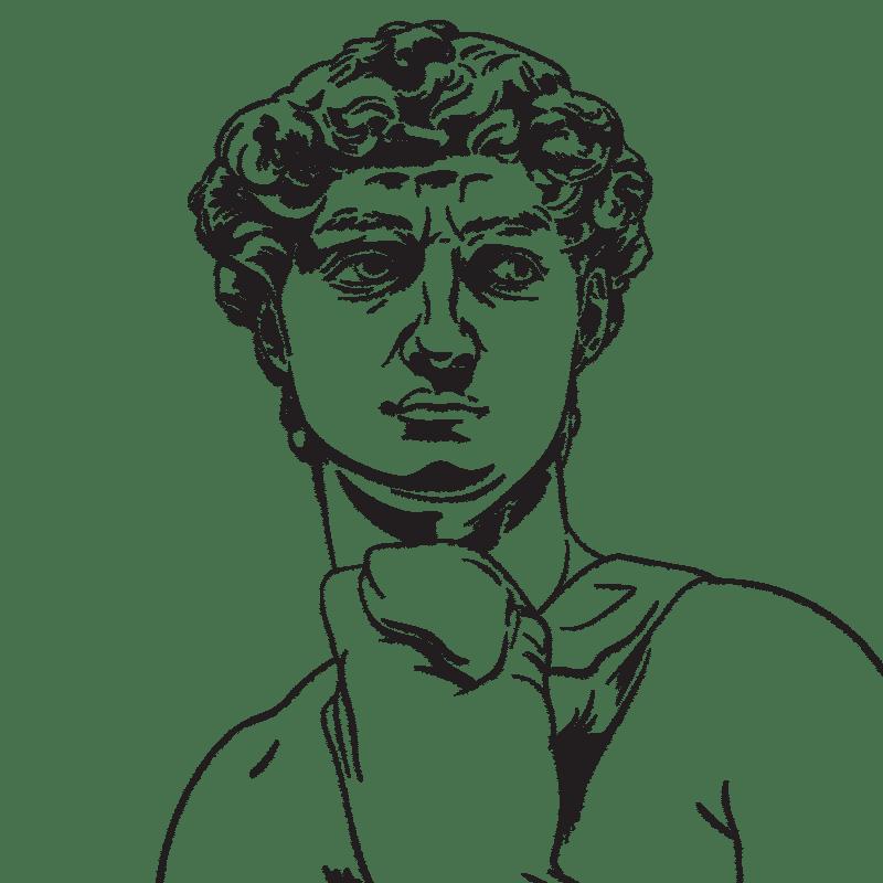 Vektorgrafik von Michelangelos David