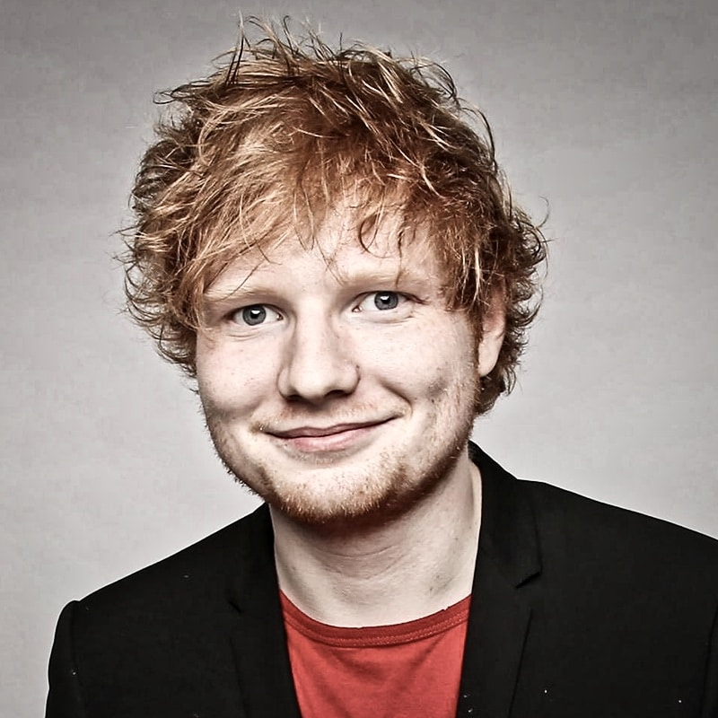Vorlage für Vektorgrafik von Ed Sheeran