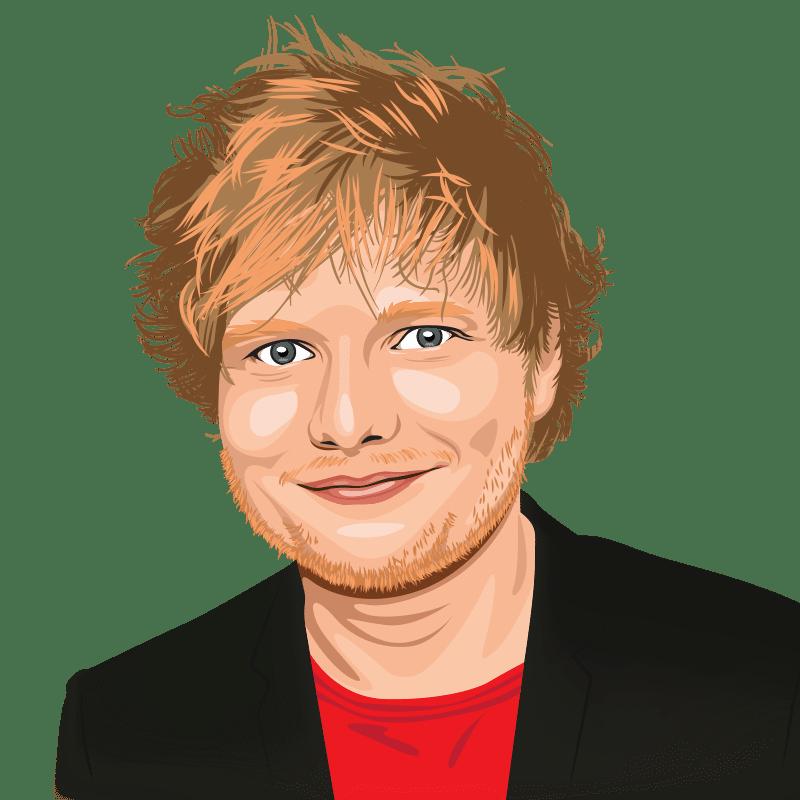 Vektorgrafik von Ed Sheeran