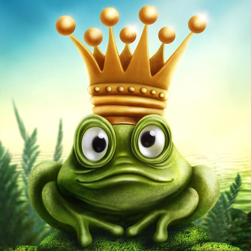 Vorlage für Vektorgrafik von Froschkönig