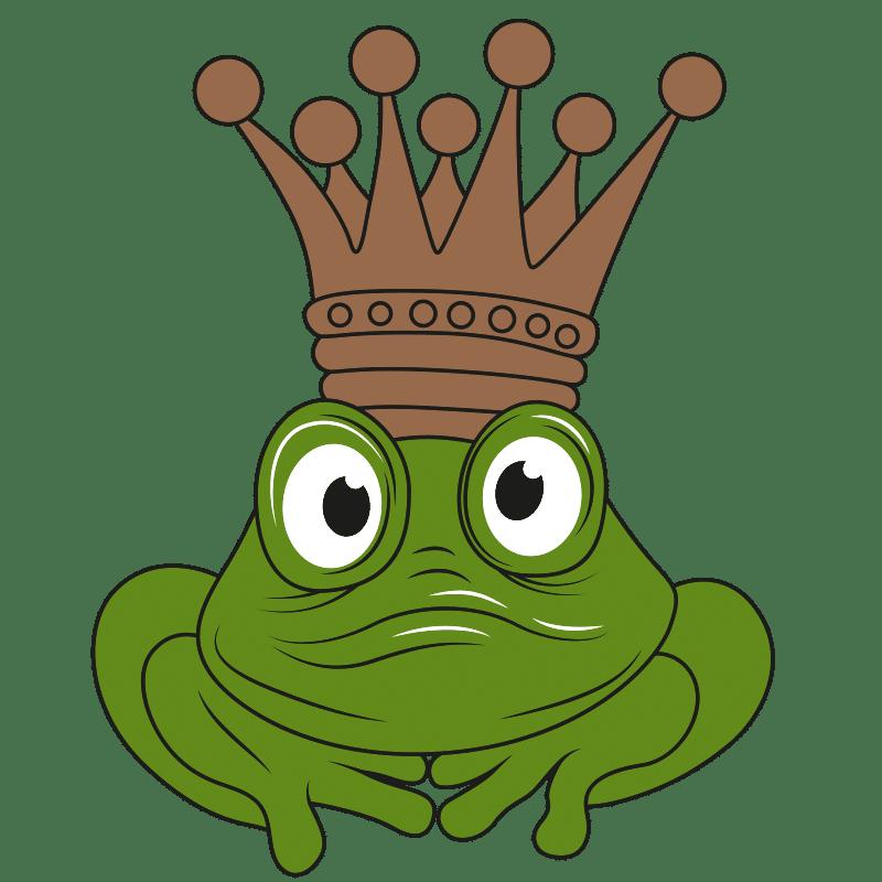 Vektorgrafik von Froschkönig