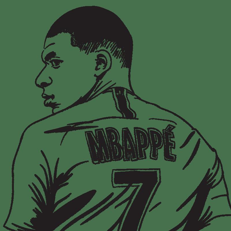 Vektorgrafik von Kylian Mbappé