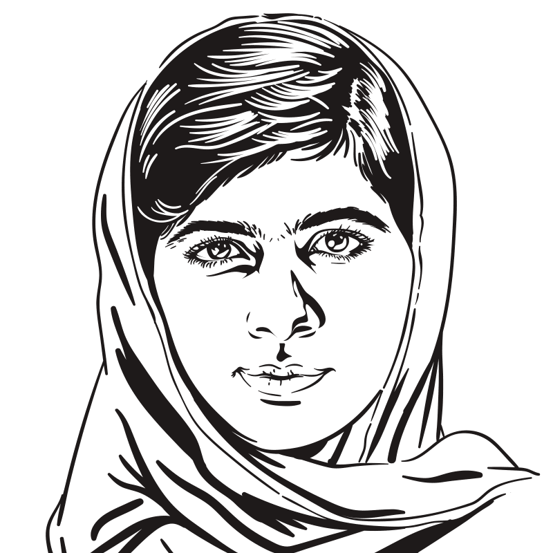 Vektorgrafik von Malala Yousafzai
