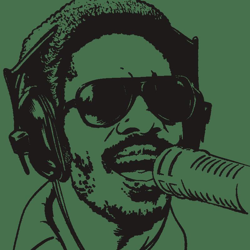 Vektorgrafik von Stevie Wonder