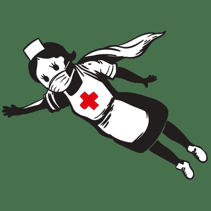 Vektorgrafik von Superkrankenschwester
