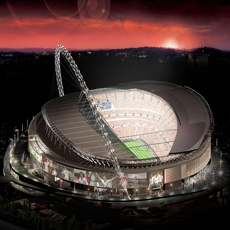 Vorlage für Vektorisierung von Wembley Stadium