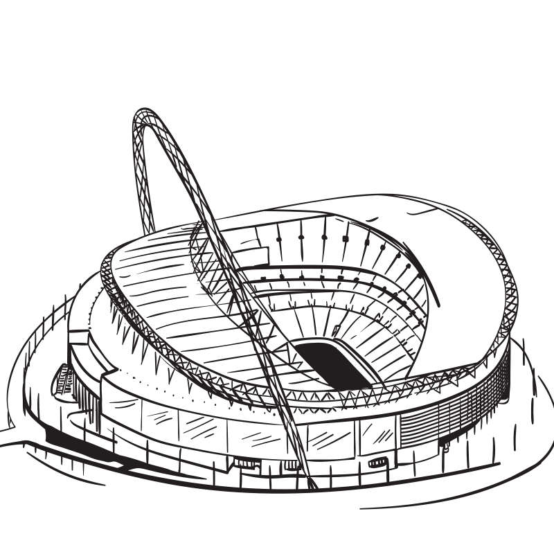 Vektorgrafik von Wembley Stadium