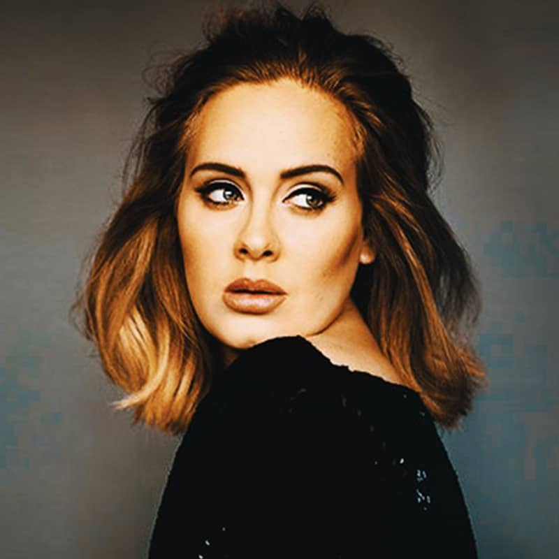 Vorlage für Vektorgrafik von Adele
