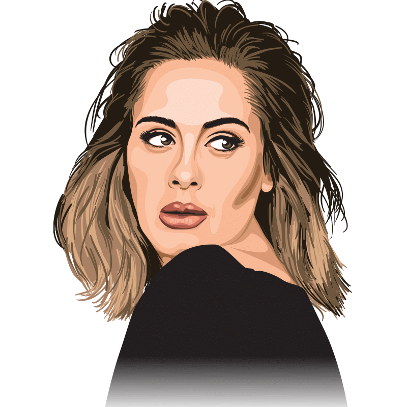 Vektorgrafik von Adele