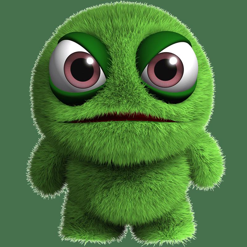 Vorlage für Vektorgrafik von Grünes Kuschelmonster