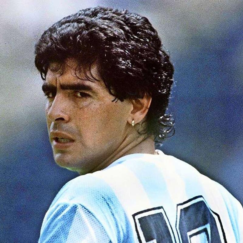 Vorlage für Vektorgrafik von Diego Maradona