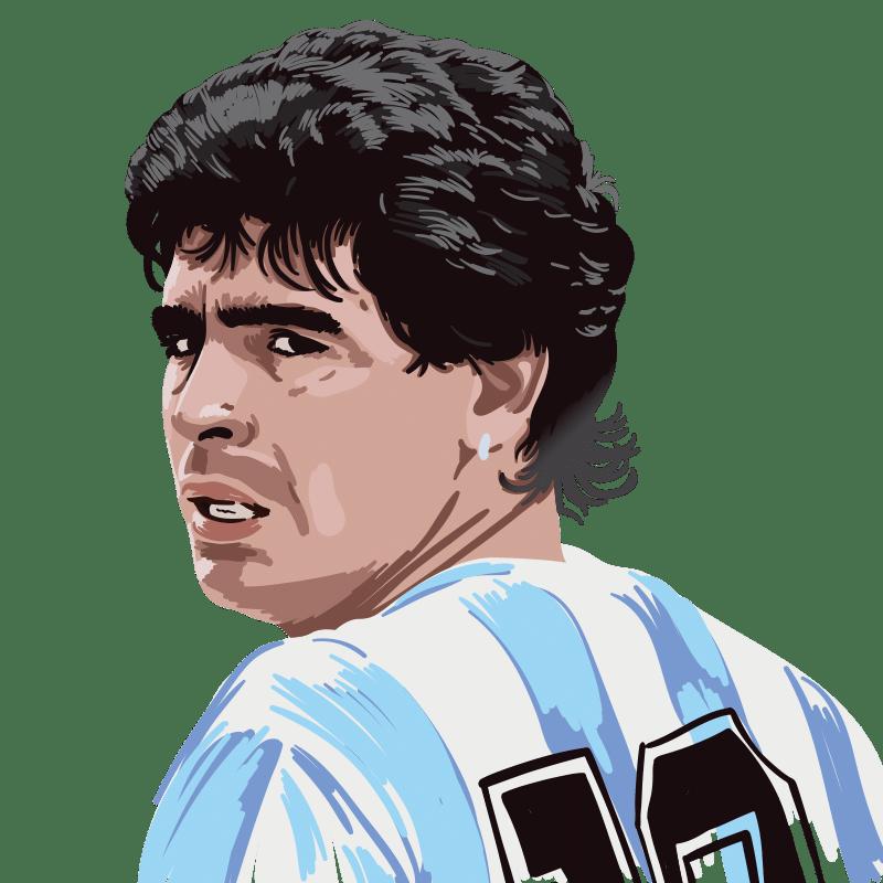 Vektorgrafik von Diego Maradona