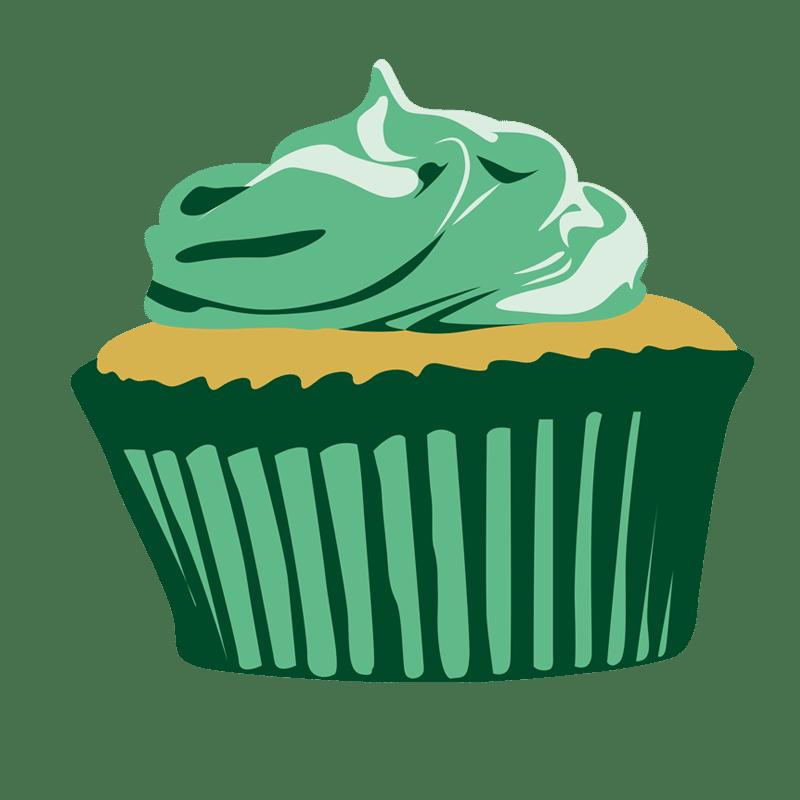 Vektorgrafik von Green Cupcake