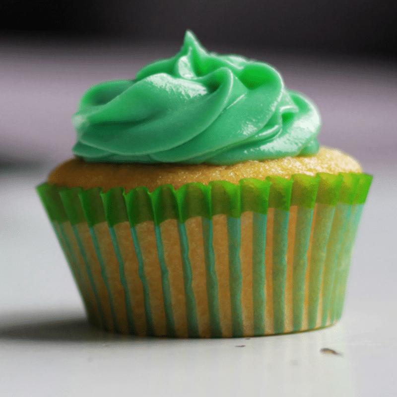 Vorlage für Vektorisierung von Green Cupcake