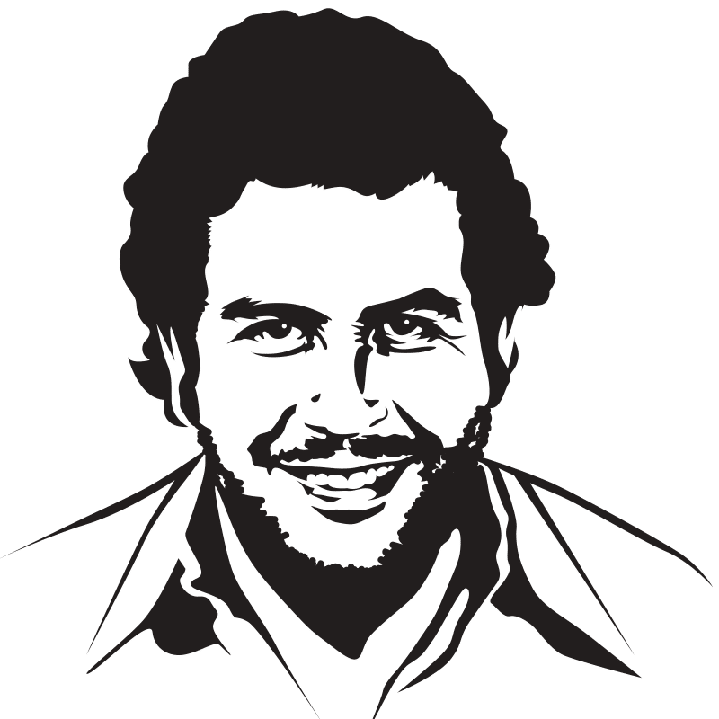 Vektorgrafik von Pablo Escobar