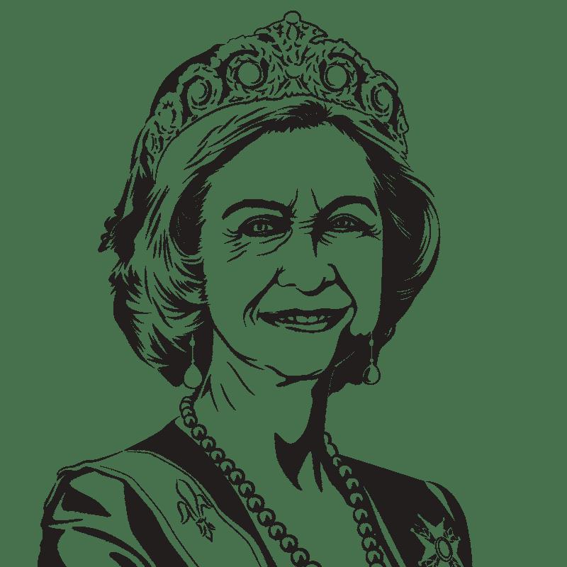 Vektorgrafik von Reina Sofia
