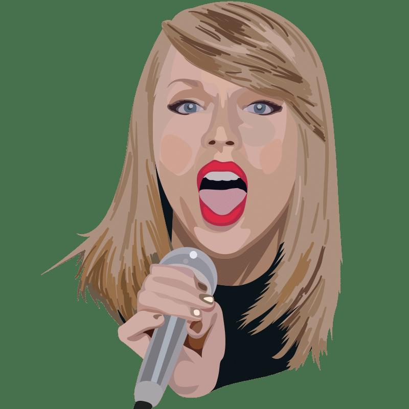 Vektorgrafik von Taylor Swift